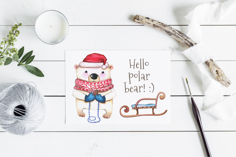 Watercolor Set Christmas Friends By Satika Thehungryjpeg Com