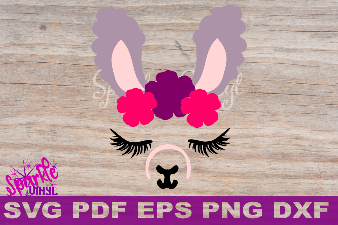 Llama Svg Dxf Eps Png Llama With A Resting Face Cut File Cricut
