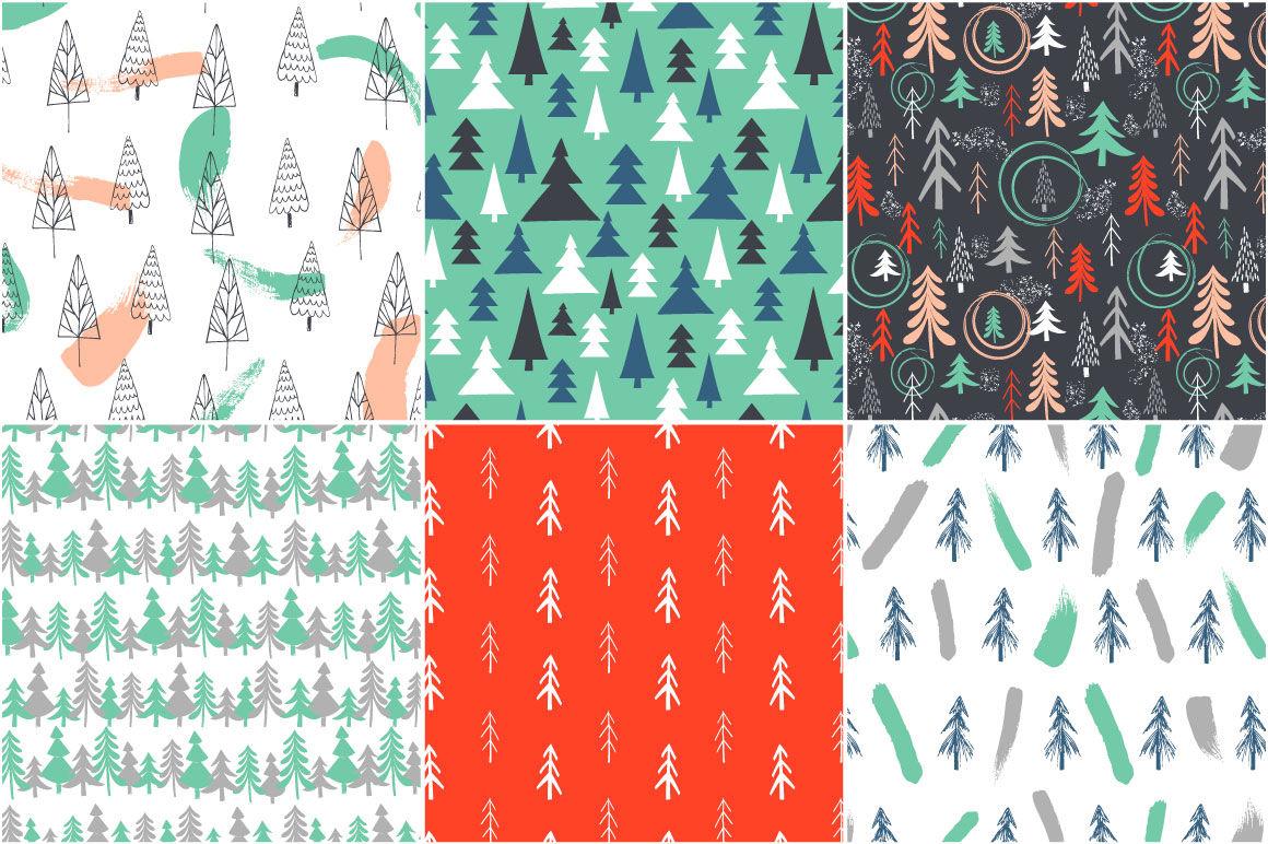 Christmas Tree New Patterns By Miraclesshop Thehungryjpeg Com