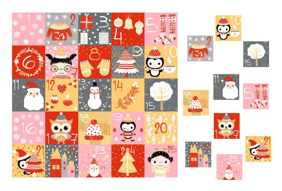 photograph relating to Printable Christmas Countdown Calendar known as Printable Xmas introduction calendar, Countdown figures playing cards