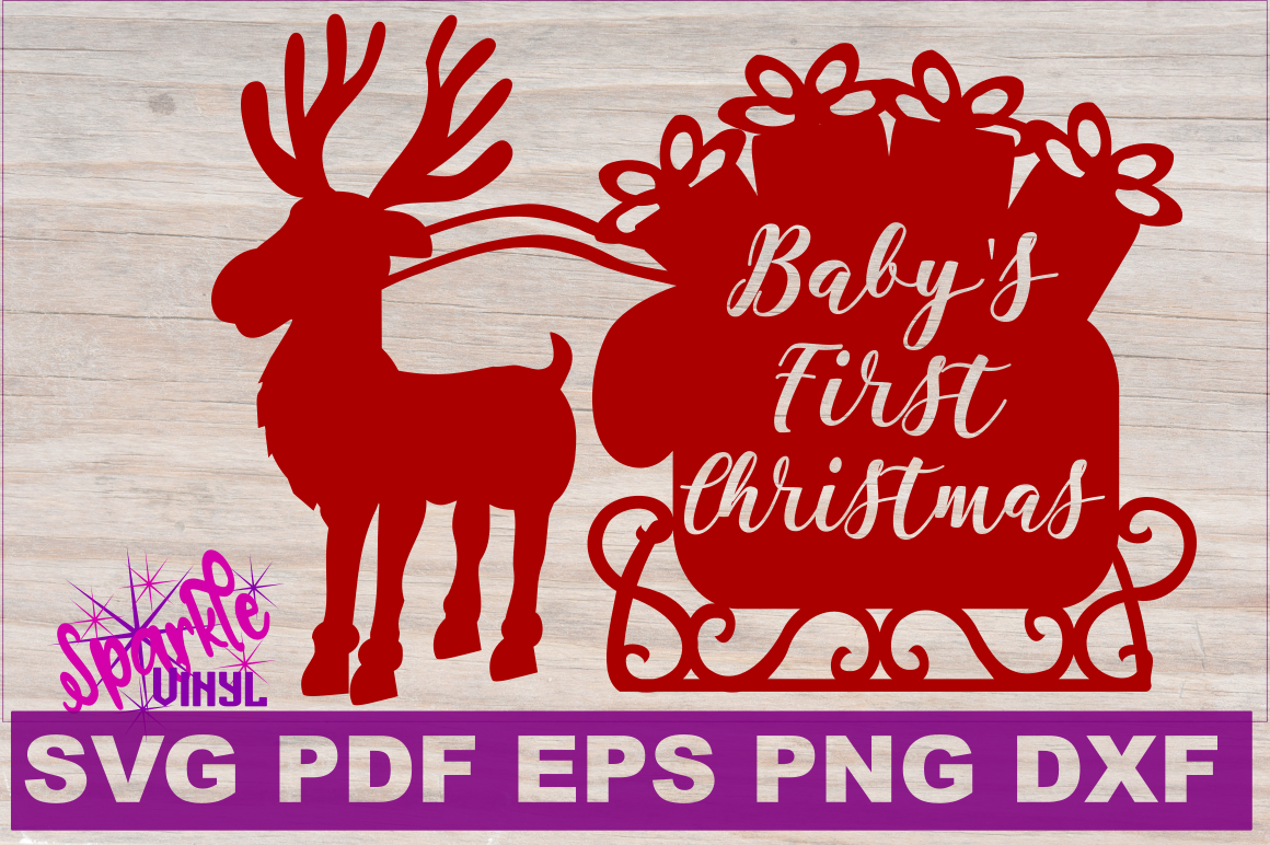 First Christmas SVG DXF EPS PDF PNG Baby's First Christmas ...