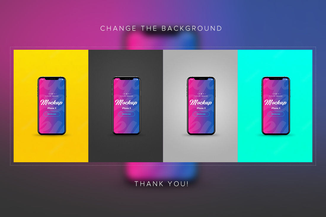 Download Iphone X Clay Mockup Free Psd Yellowimages