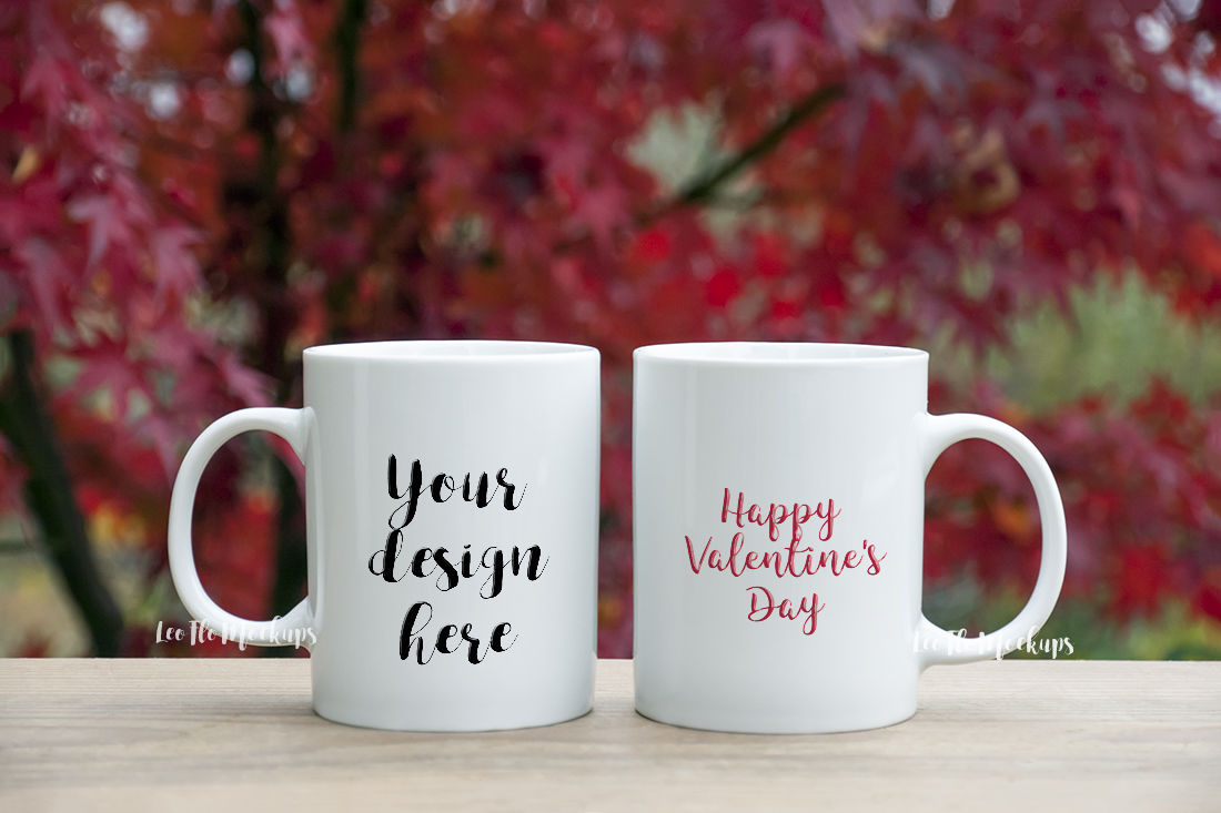 2 white mug mock up valentine s day romantic background nature coffee mug mockup by leo flo mockups thehungryjpeg com the hungry jpeg