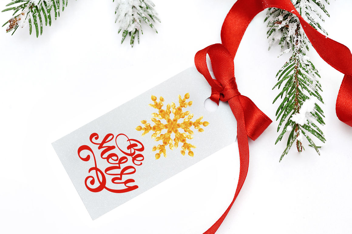 Merry Christmas Hand Draw Lettering Objects By Happy Letters
