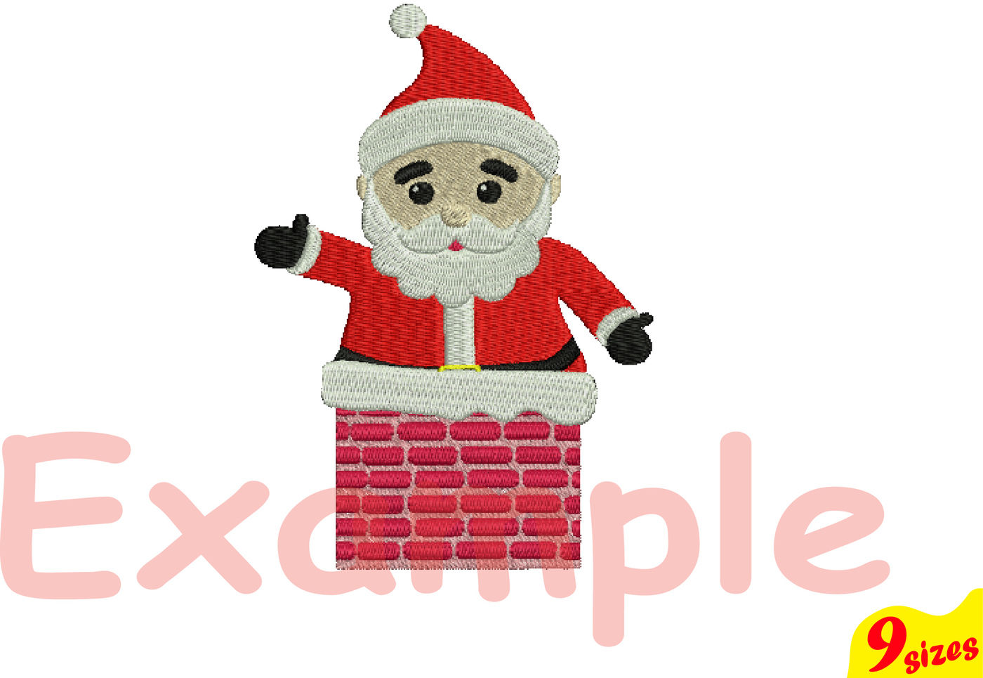 Santa Claus Embroidery Design Machine Instant Download Commercial Use Digital File 4x4 5x7 Hoop Icon Symbol Sign Christmas Chimney Winter Holiday Xmas 121b By Hamhamart Thehungryjpeg Com