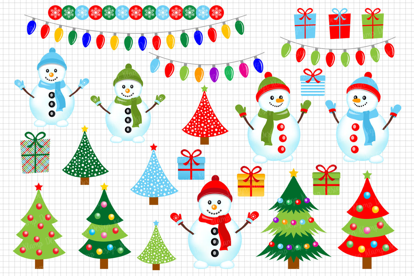 Snowmen Clipart Christmas Clipart Graphics Illustrations By