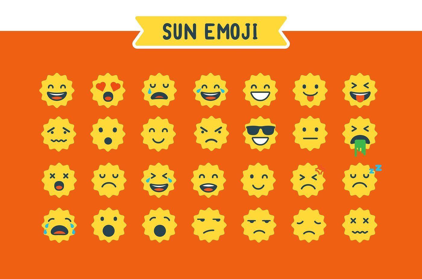 Sun Emoji By Brandspark Thehungryjpeg Com