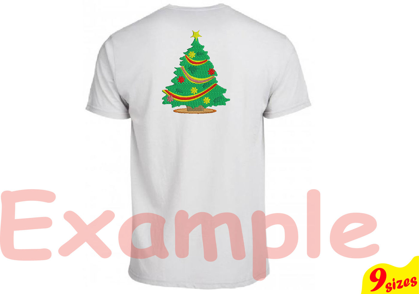 Christmas Tree Embroidery Design Machine Instant Download