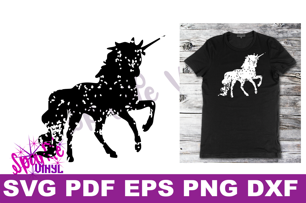 Distressed Unicorn Svg Cut File And Printable File Distressed Svg