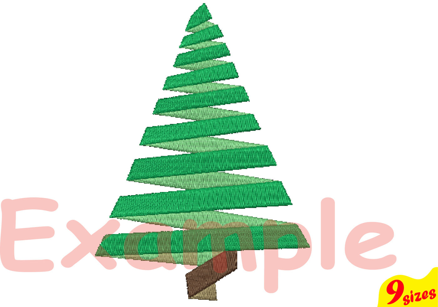 Christmas Tree Embroidery Design. Machine Instant Download