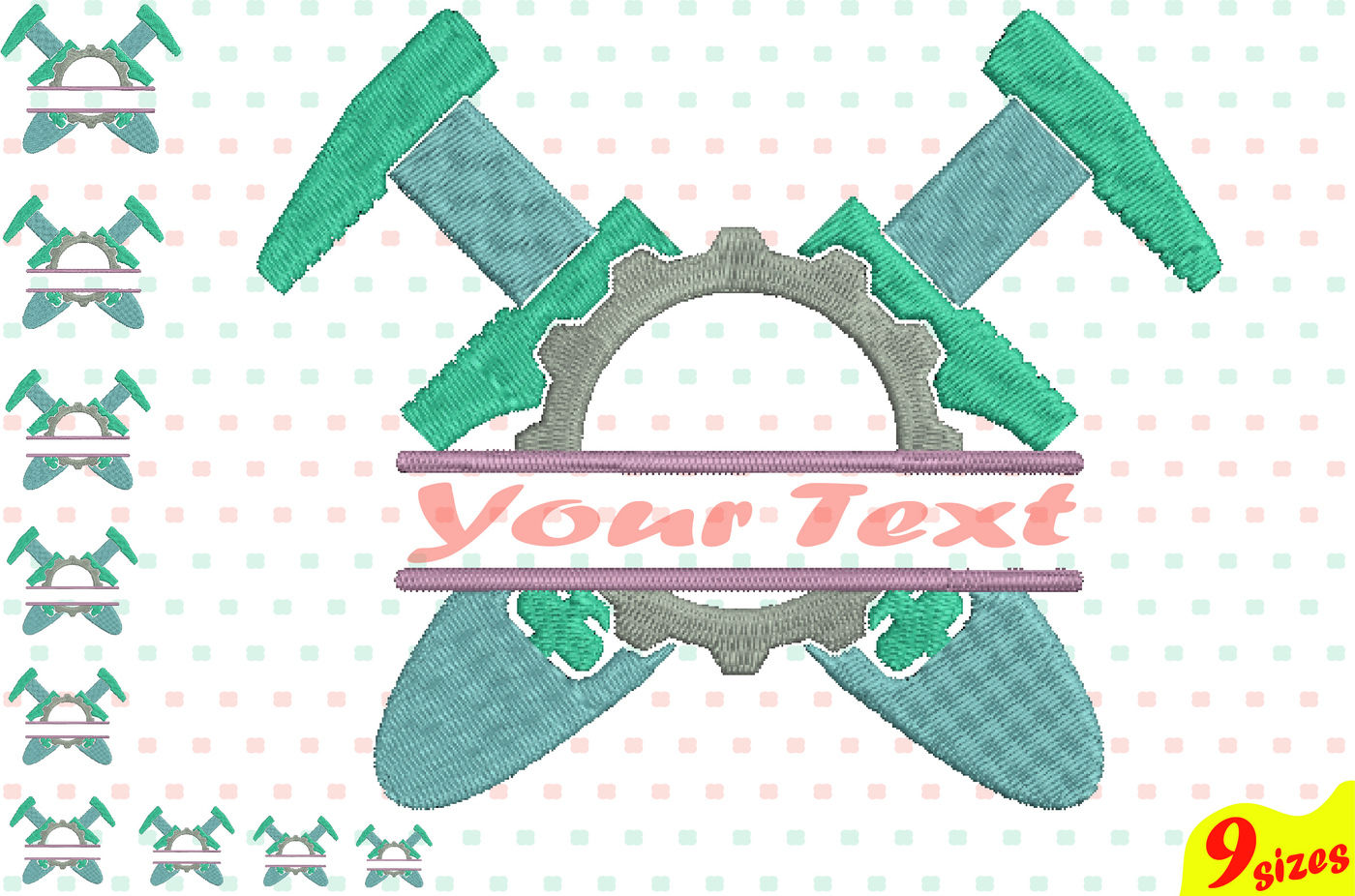 Construction Tools Embroidery Design Machine Instant Download