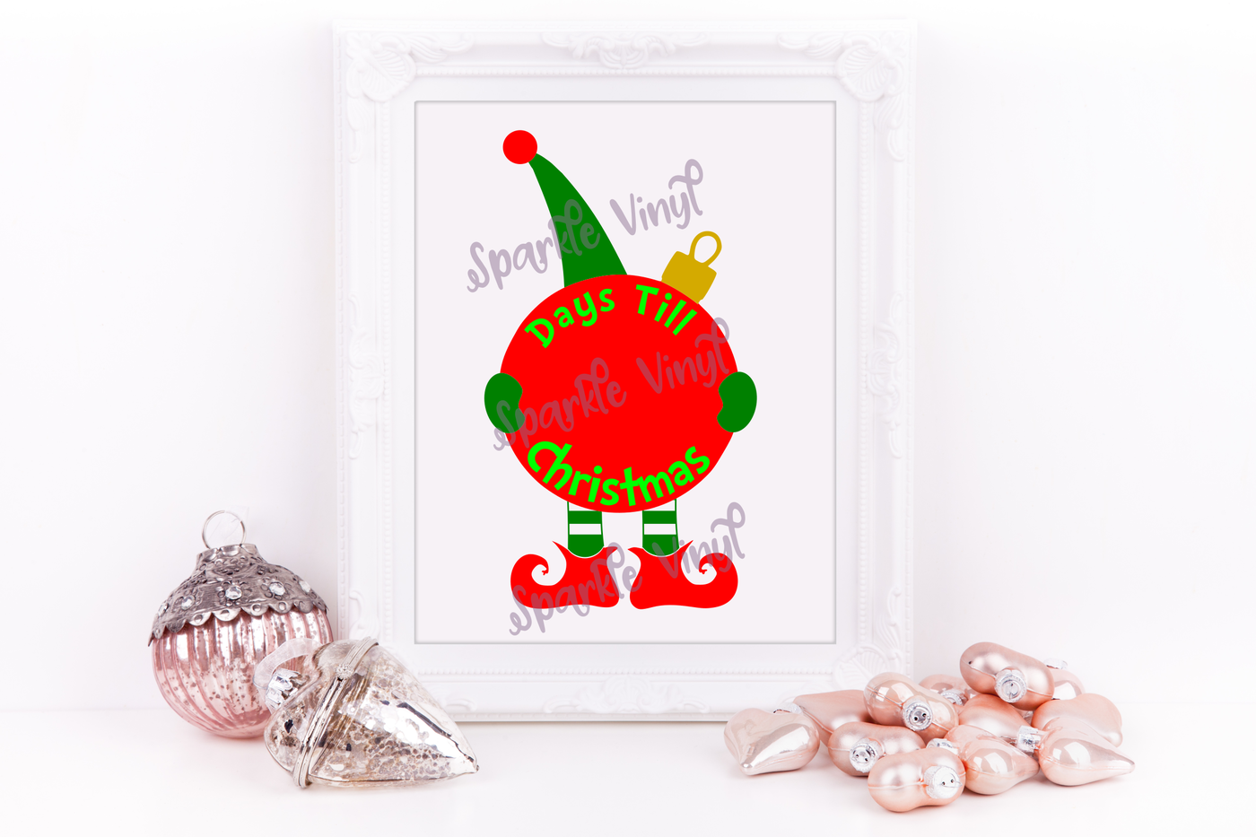 Svg Christmas Elf Countdown Sign Picture Printable Svg Cut File