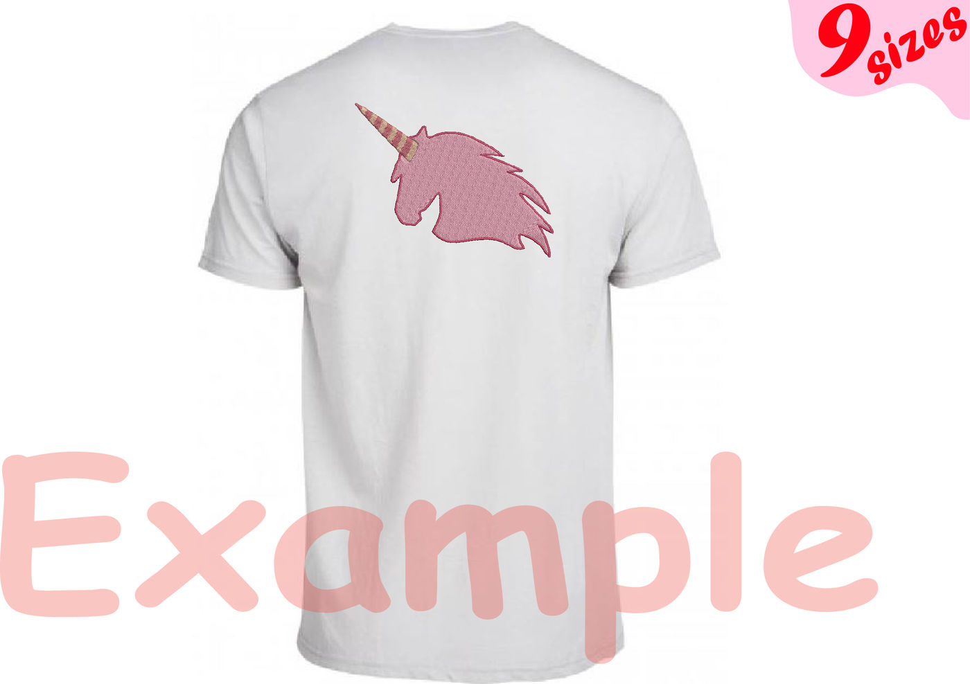Unicorn Embroidery Design Machine Instant Download Commercial Use