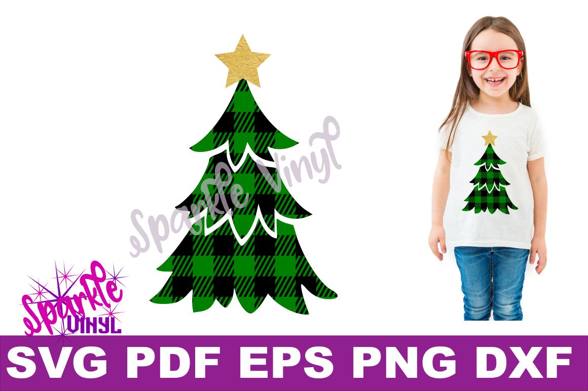 Svg Buffalo Plaid Christmas Tree With Star Shirt Sign