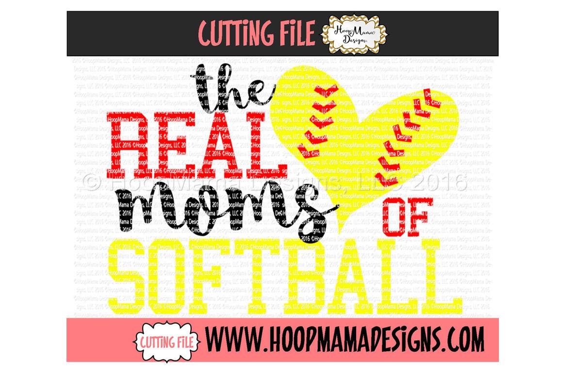 The Real Moms Of Softball By Hoopmama Designs Thehungryjpeg Com