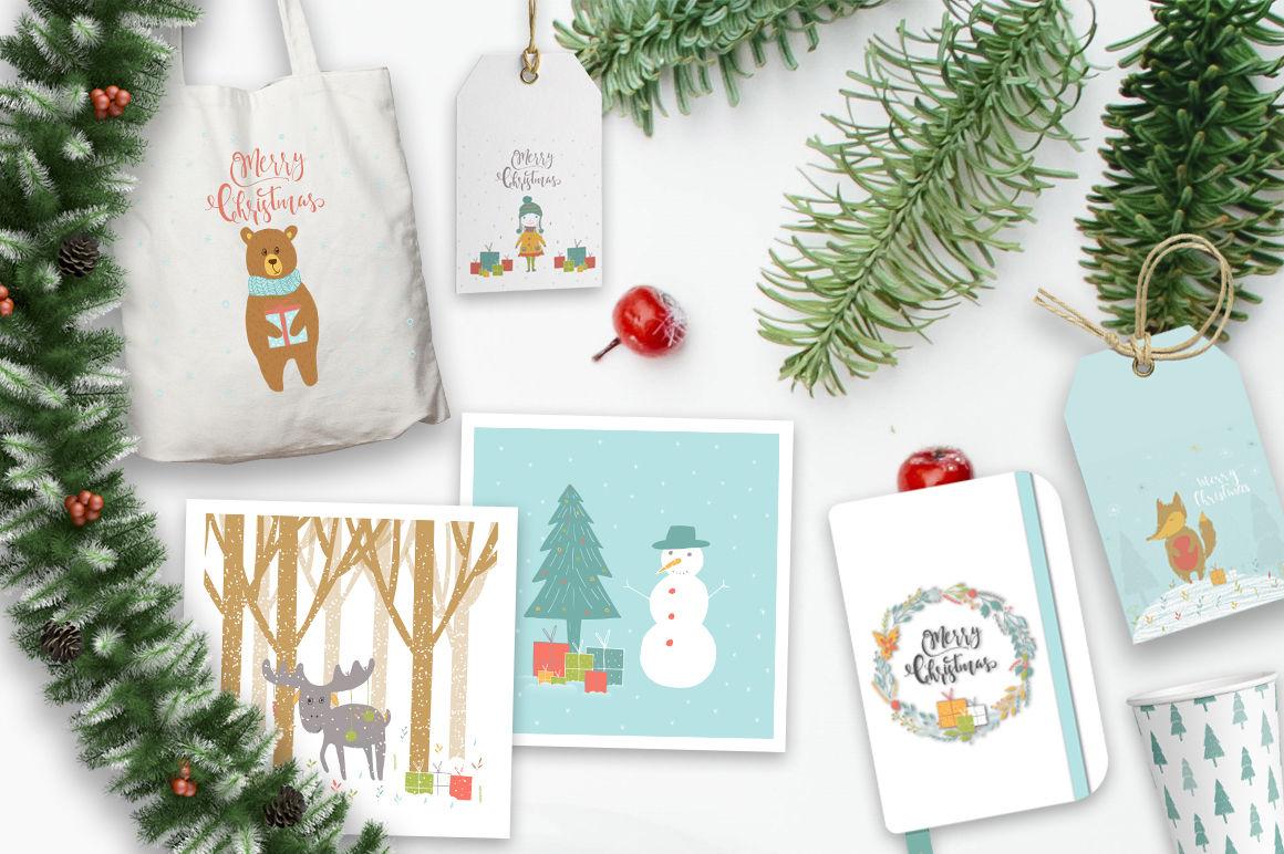 Cute Christmas Animals By Pixmass Thehungryjpeg Com