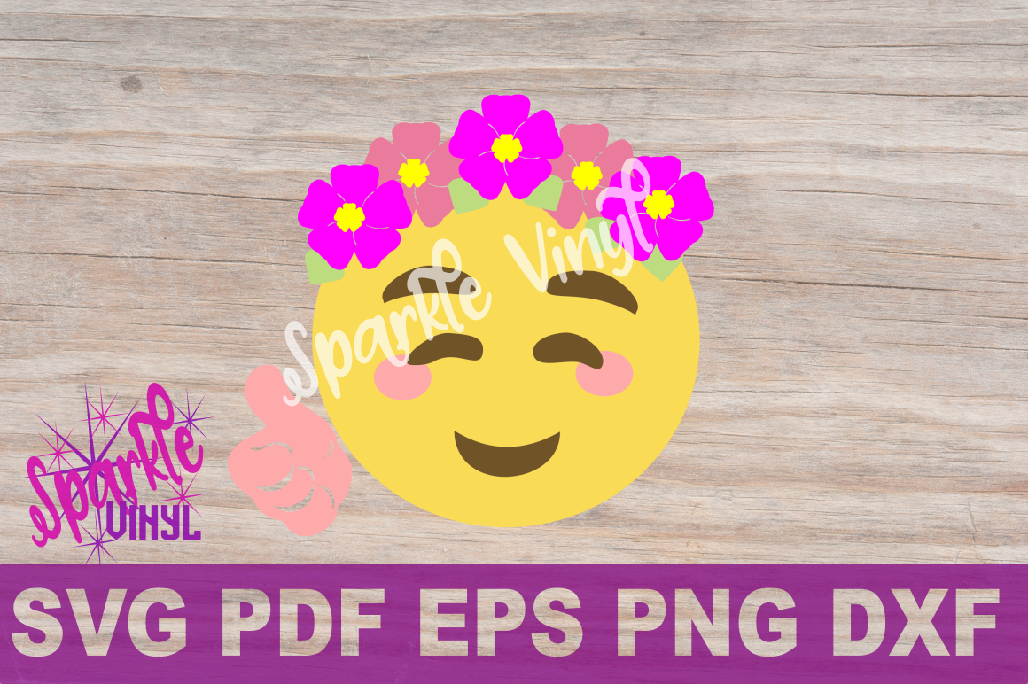 Svg Emoji Smile Flowers Thumbs Up Shirt Sign Printable Cut File