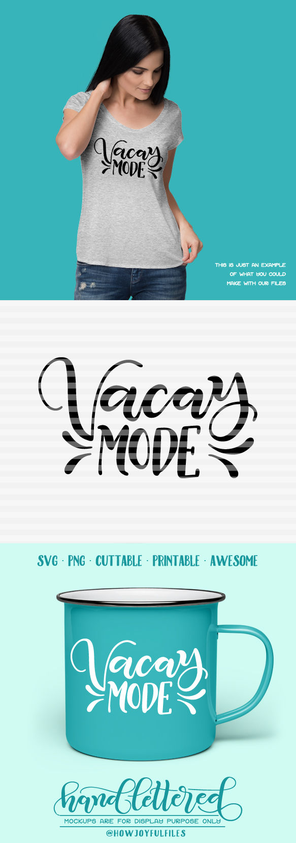Vacay Mode Vacation Fever Svg Dxf Pdf Files Hand Drawn