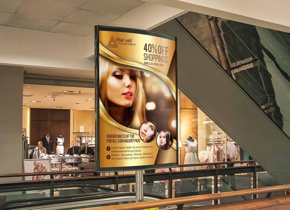 Beauty Salon Bus Stop Banners By Designhub Thehungryjpeg Com
