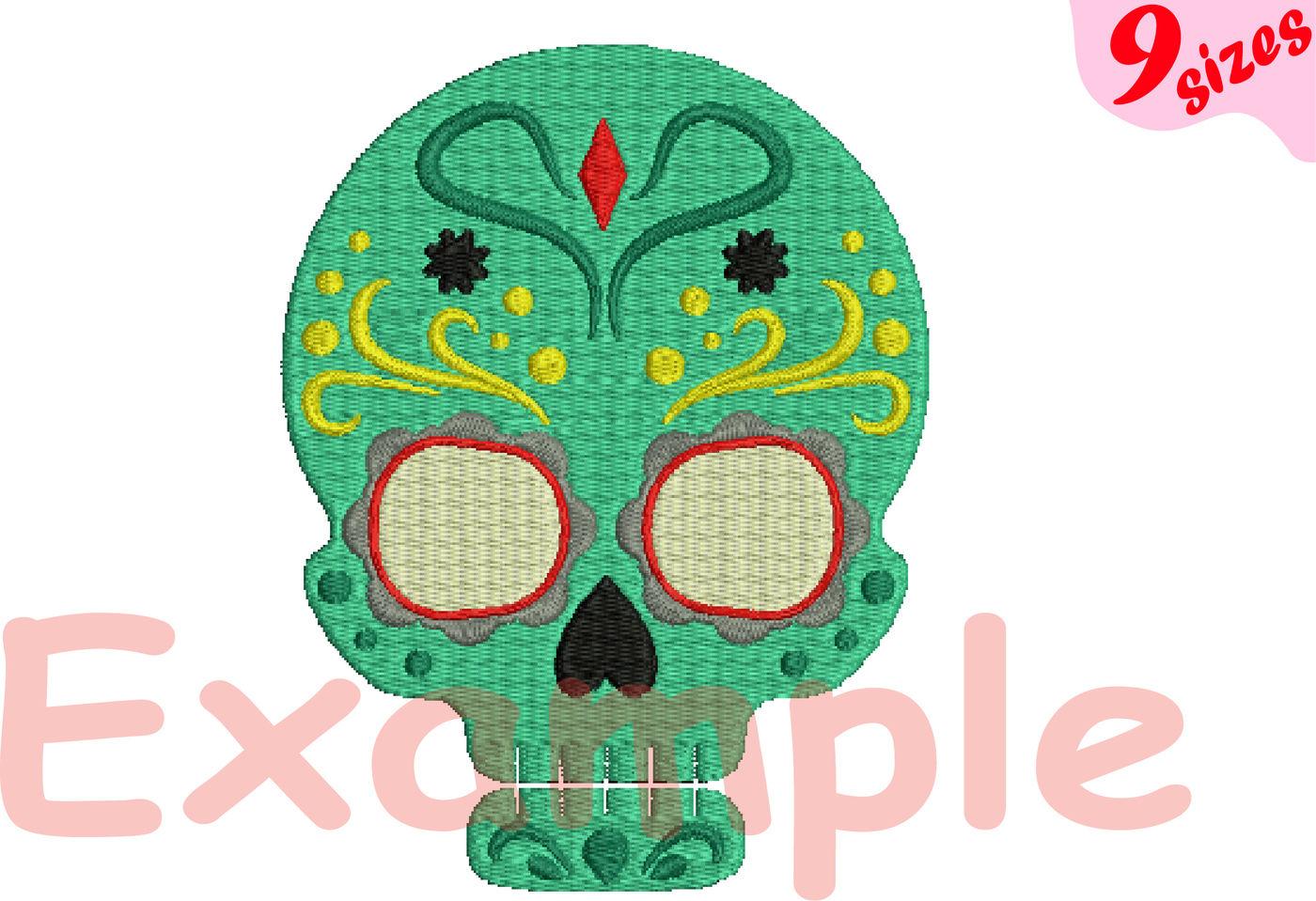 Cinco De Mayo Embroidery Design Instant Download Commercial Use Digital File 4x4 5x7 Hoop Machine Icon Symbol Sign Fiesta Mexico Skull Dia De Los Muertos Party Taco Food Mexican Birthday Sugar Skulls