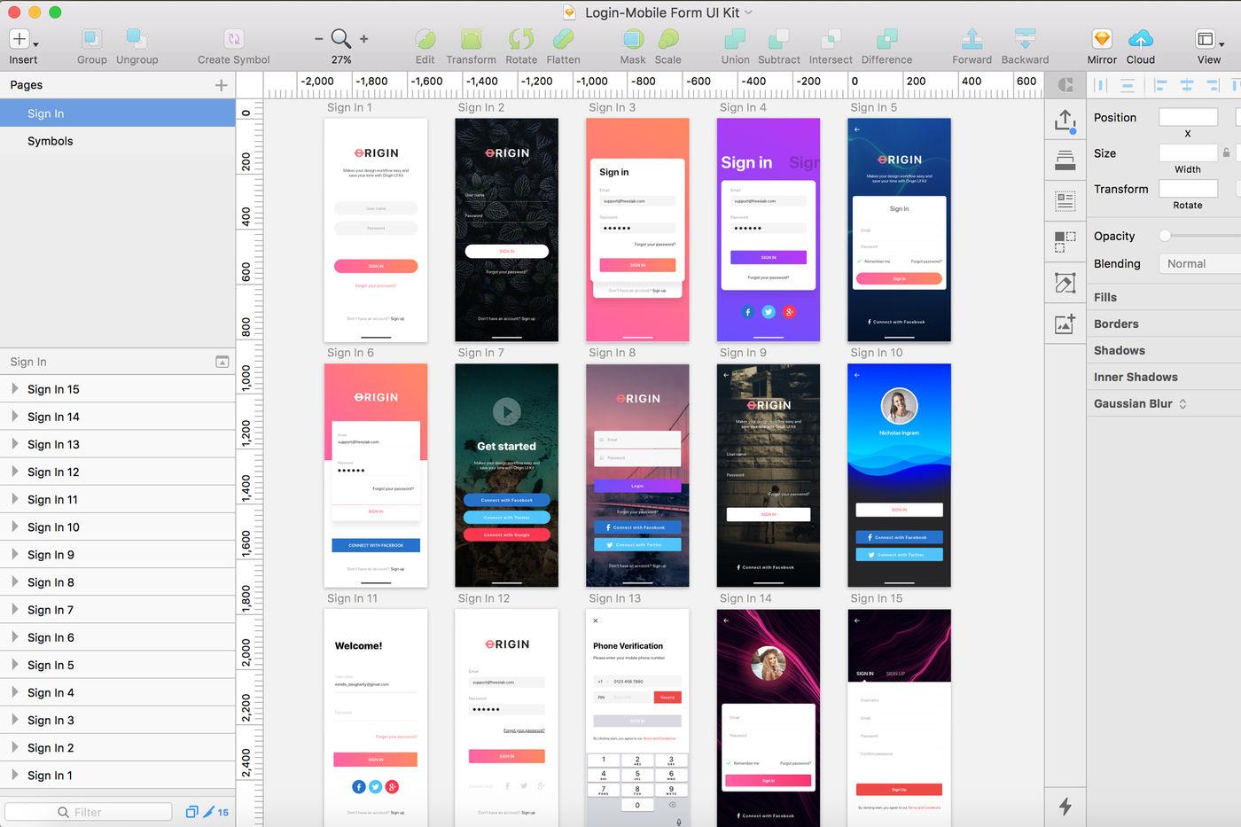 Login - Mobile Form UI Kit By hoangpts | TheHungryJPEG com