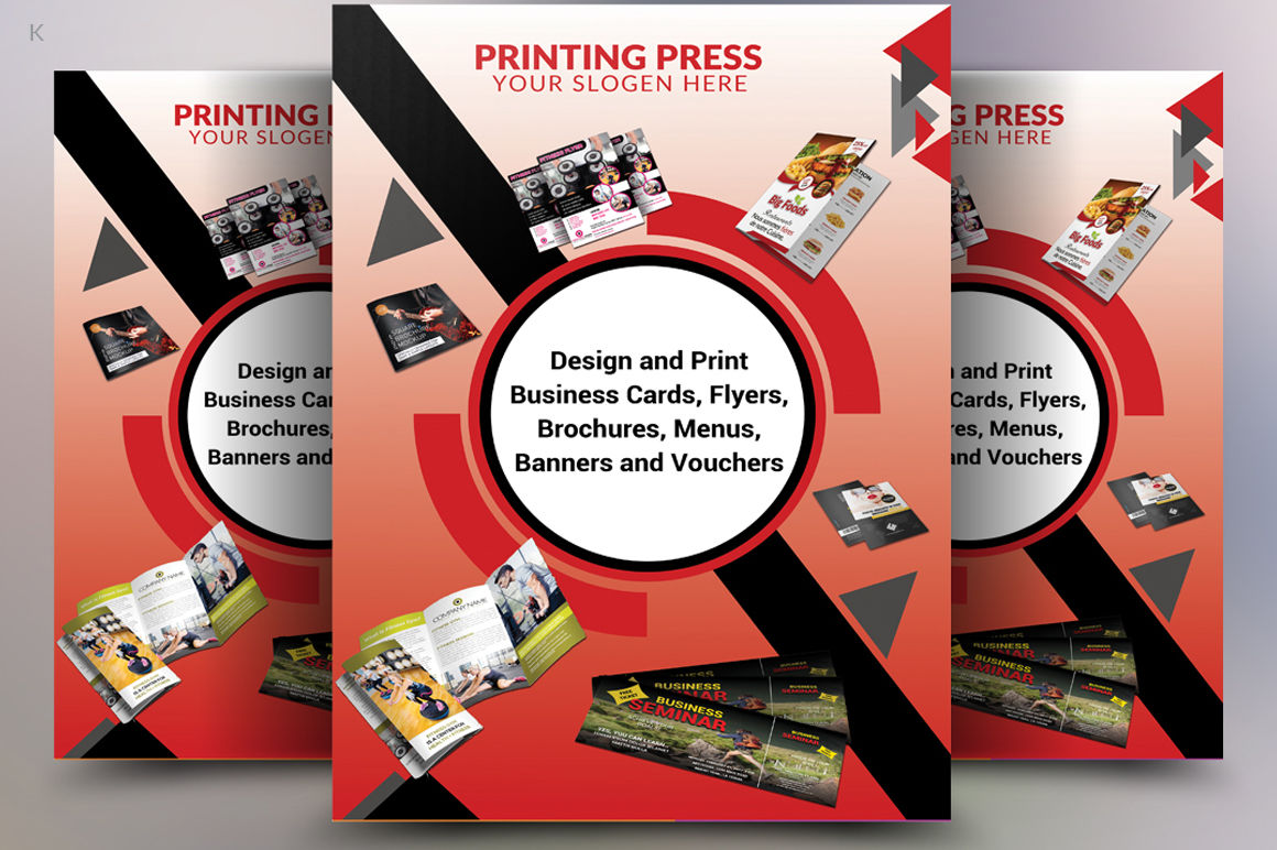 printing press flyer template by ayme designs
