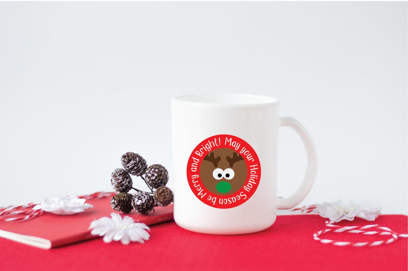Reindeer Svg Cut File Christmas Svg Dxf Eps Png By Shannon Keyser Thehungryjpeg Com