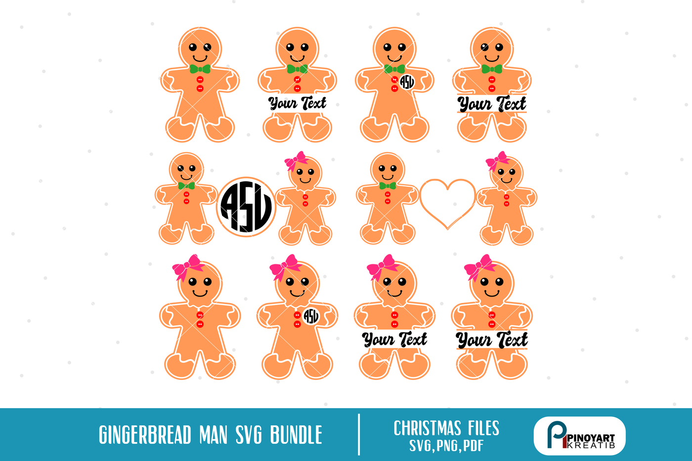 31+ Gingerbread Man – Svg, Dxf, Eps Cut Files Image