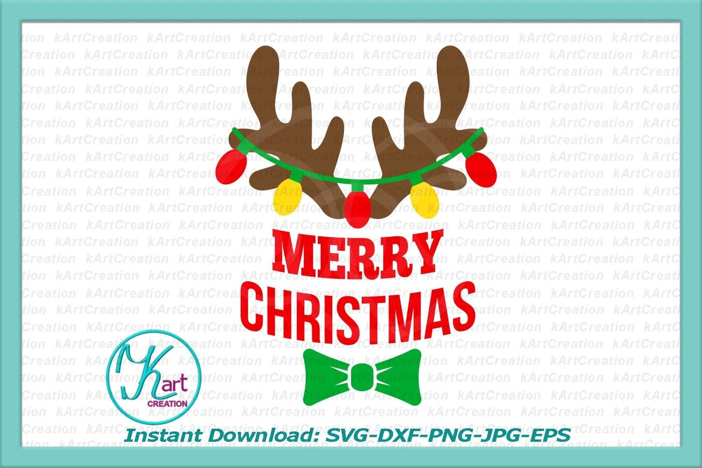 Antlers With Christmas Lights Svg Baby Antlers Svg Antlers Merry