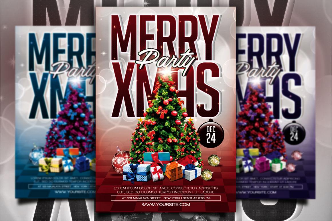Christmas Party Flyer By Gayuma Thehungryjpeg Com