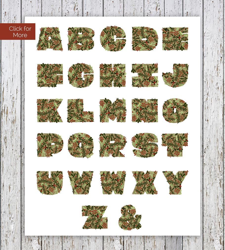 Holly Ivy Christmas Color Display Font By On The Mark Designs