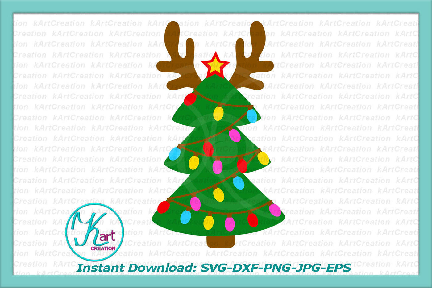 Reindeer Svg Svg Christmas Tree Christmas Lights Svg Antlers
