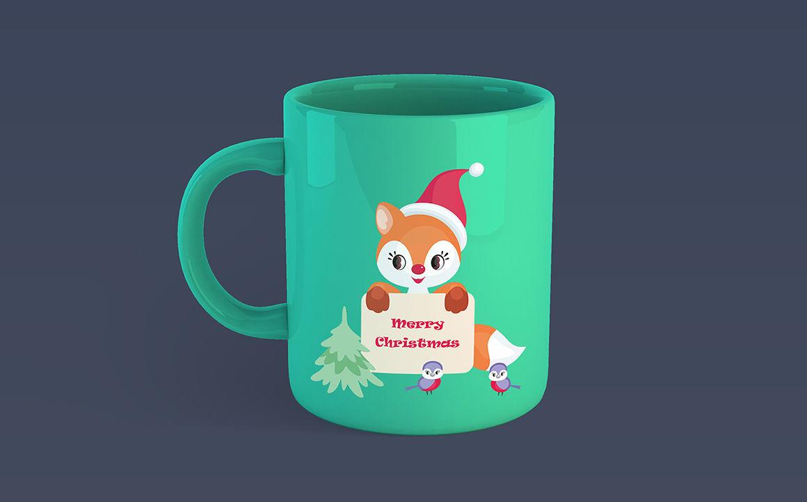 Cute little fox. Christmas clip arts and seamless patterns By Olga Belova | TheHungryJPEG.com