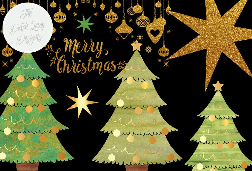 Christmas Tree Decoration Clipart Set By The Dutch Lady Designs