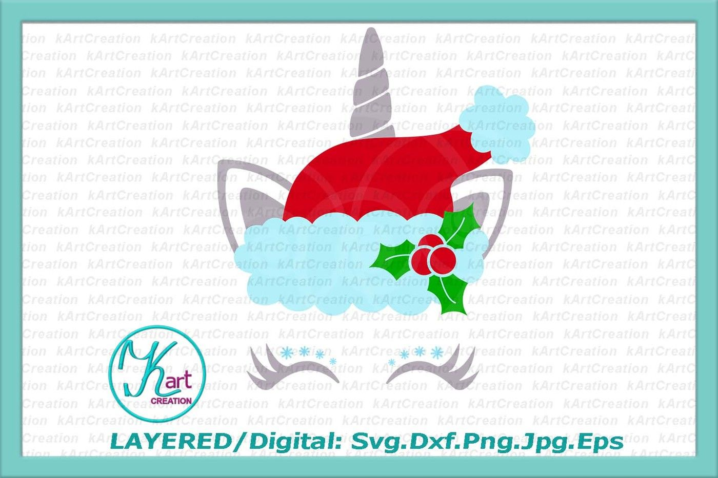 photograph about Printable Iron on named Xmas unicorn svg, Santa Unicorn svg, Xmas unicorn