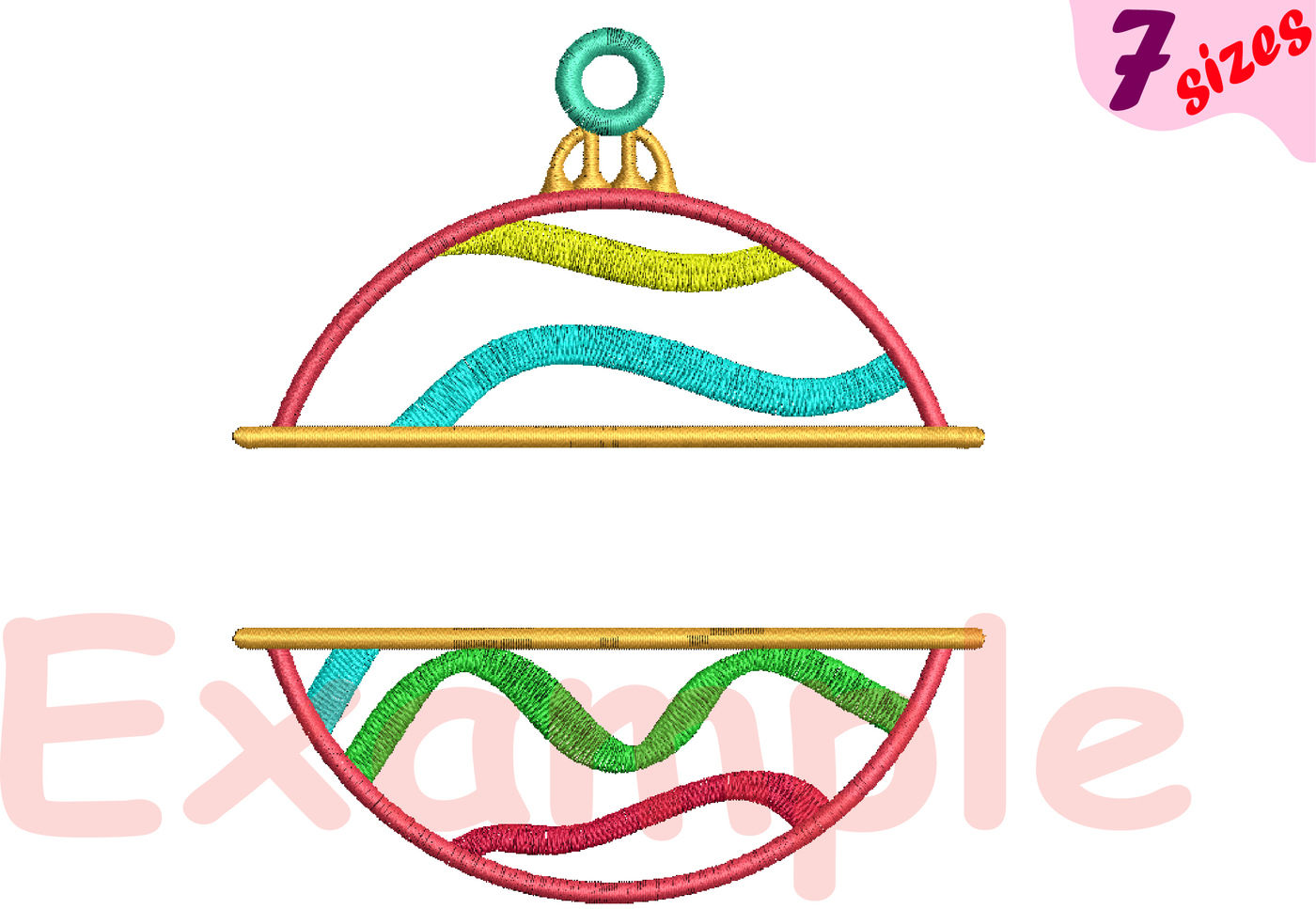 Christmas Balls Embroidery Design Machine Instant Download
