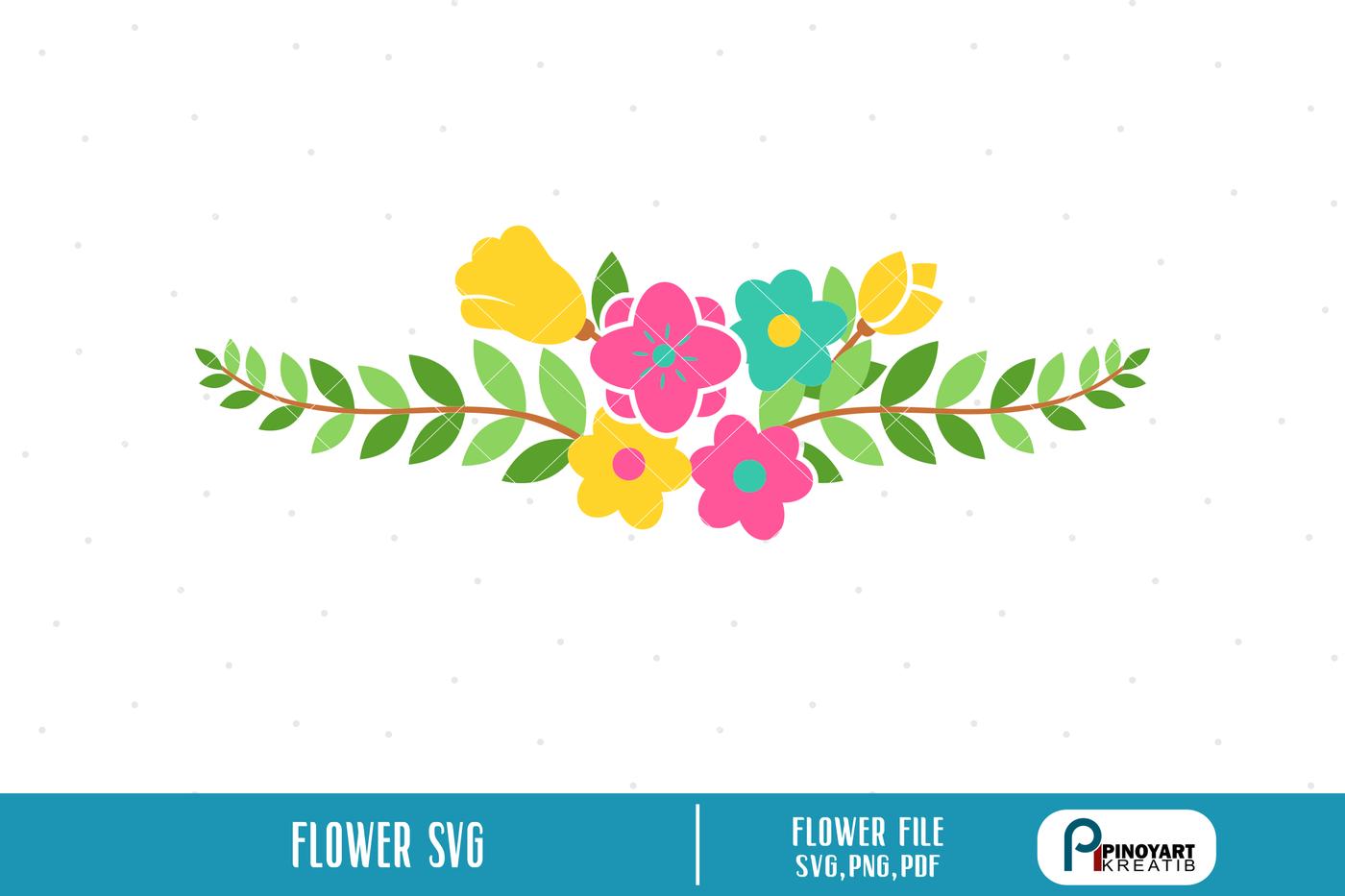 Flower Svg Floral Svg Flower Svg Flower Svg File Flower Svg For