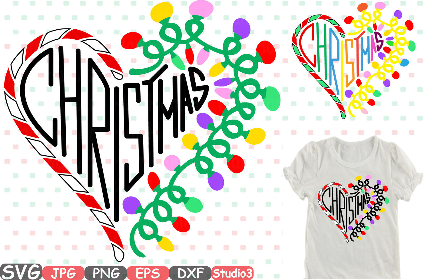 Christmas Heart Png.Christmas Heart Silhouette Svg Cutting Files Digital Clip
