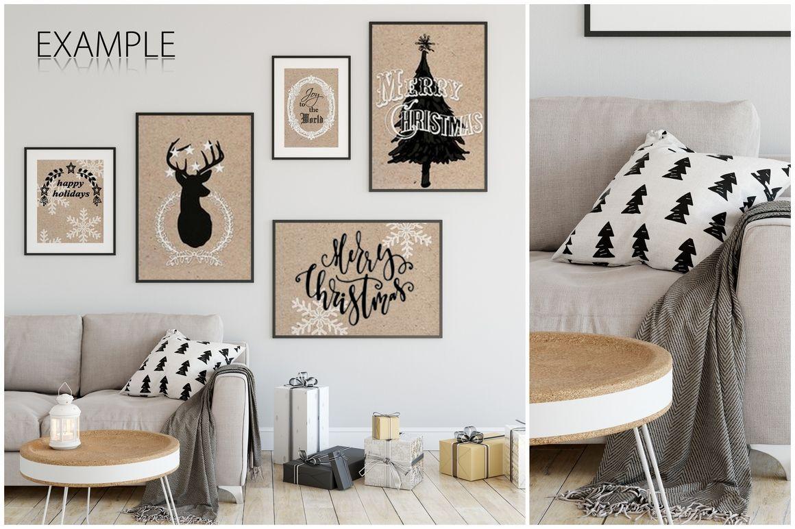 Christmas Frame Mockup Bundle By Yuri U Thehungryjpeg Com