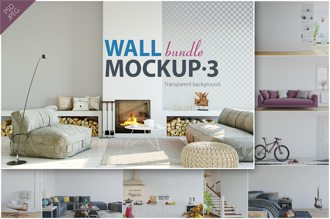 Wall Mockup Psd Free Download