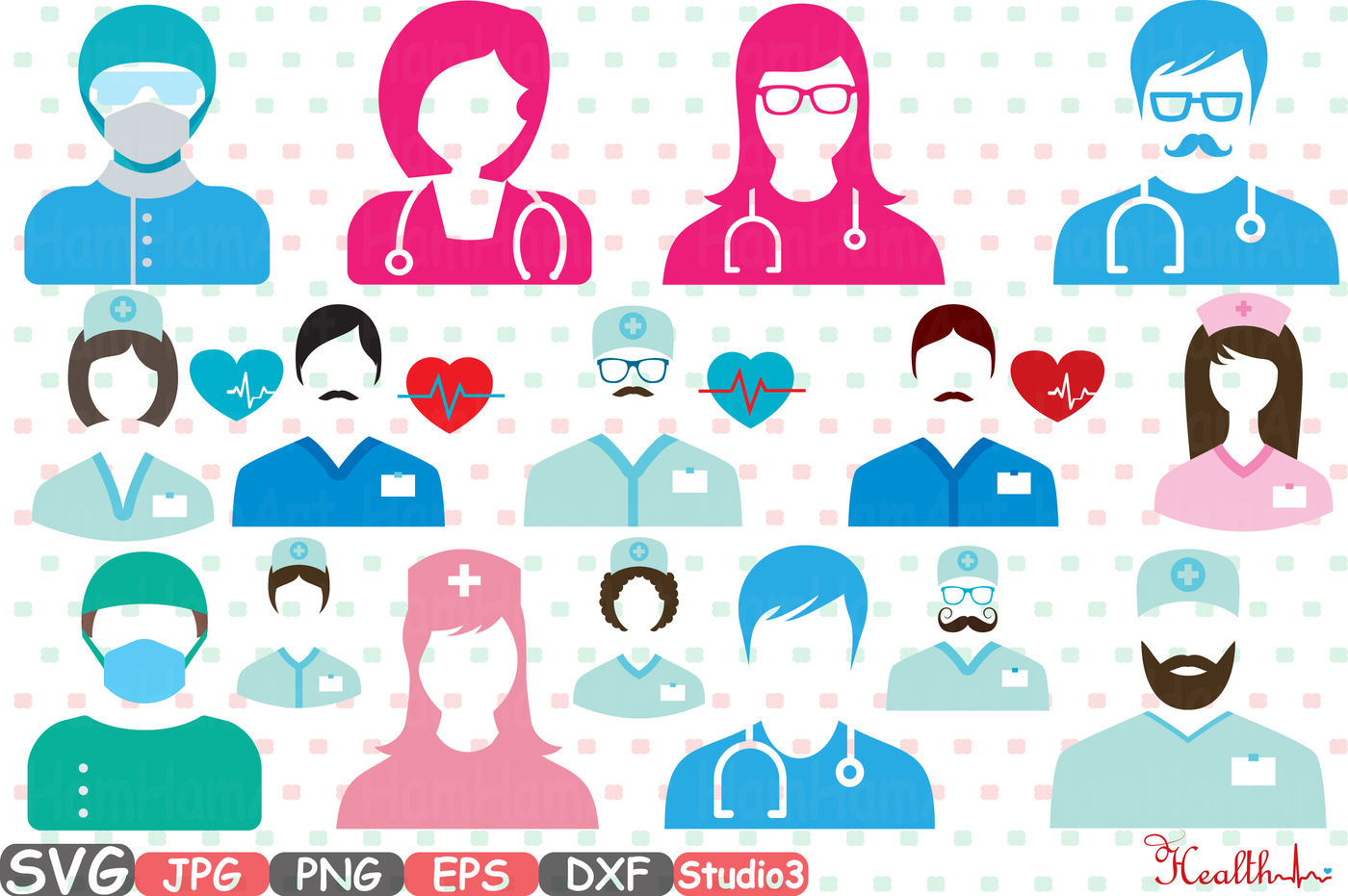 Doctor Medic Props Party Photo Booth Silhouette Svg Cutting Files