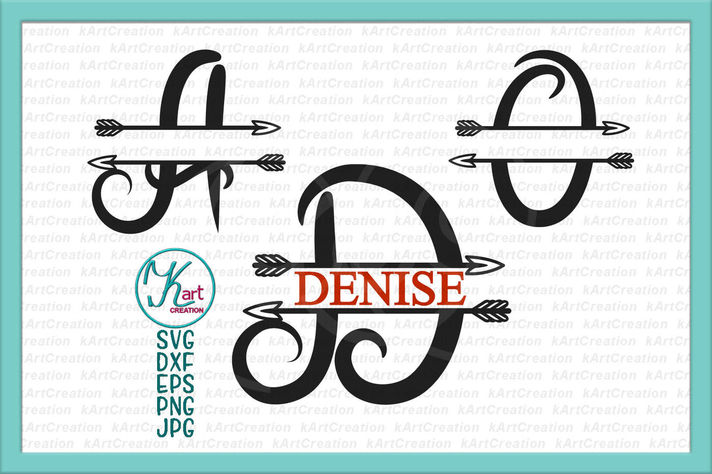 Valli Split Monogram Font With Arrows Svg Dxf Cutting Files By