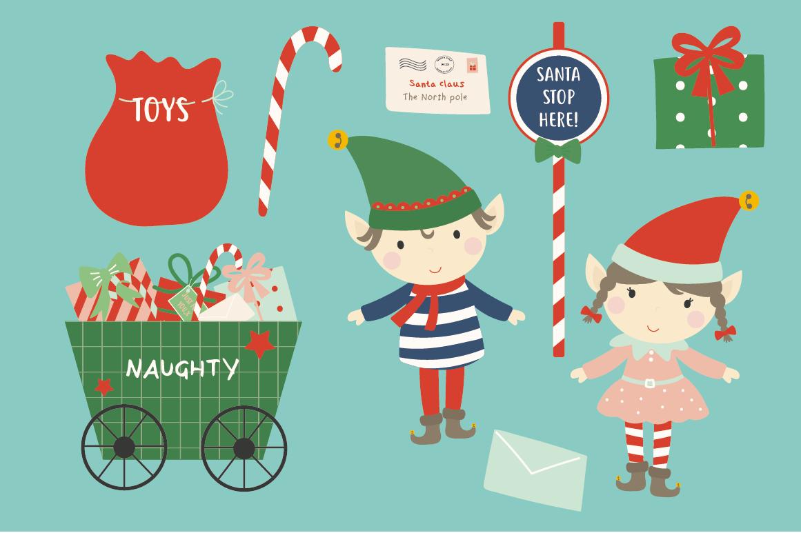 Christmas Elf By Poppymoon Design Thehungryjpeg Com