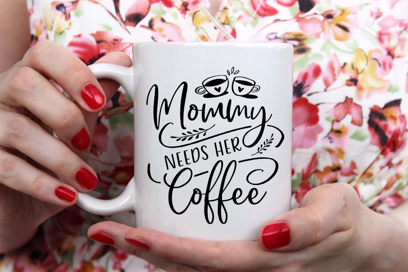 Mommy Needs Her Coffee Svg Dxf Png Eps By Theblackcatprints Thehungryjpeg Com