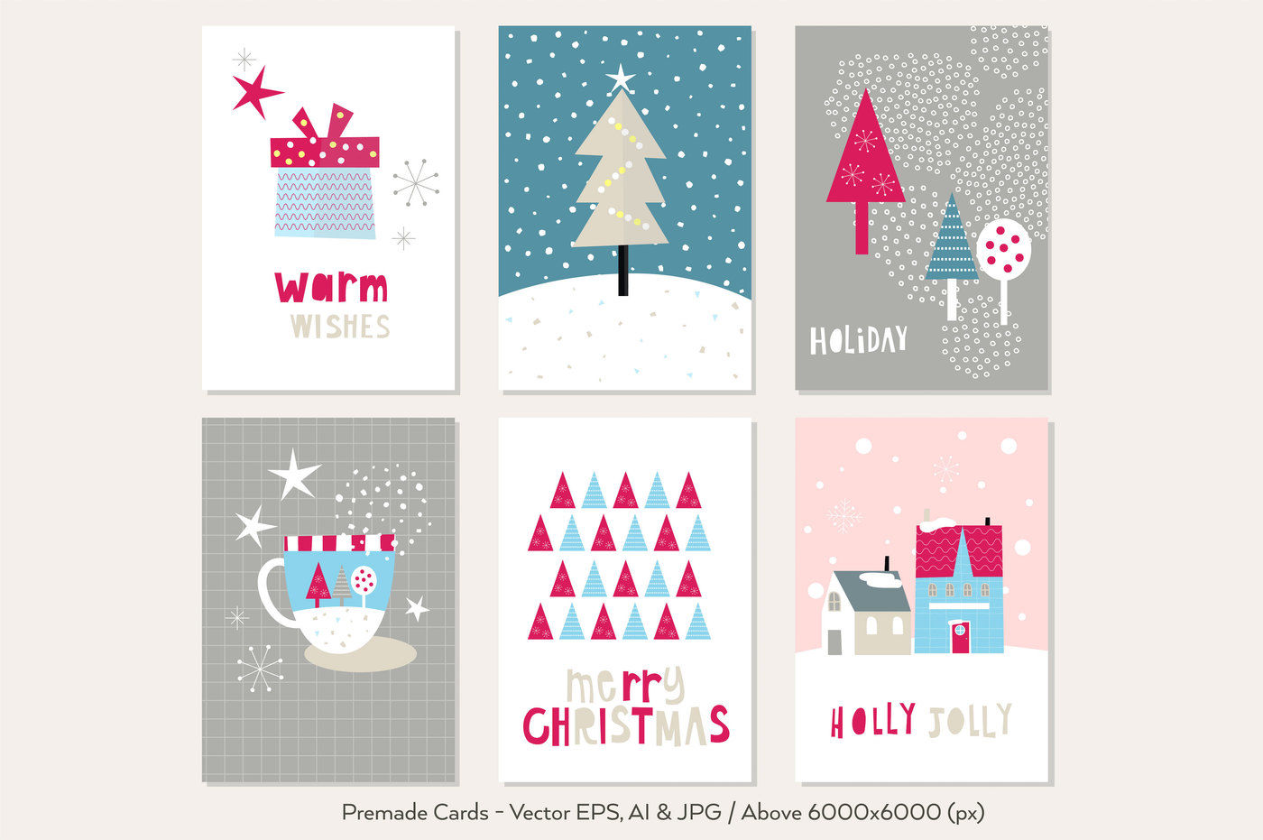 Happy Flat Holiday Flat Design Kit By Paperly Studio