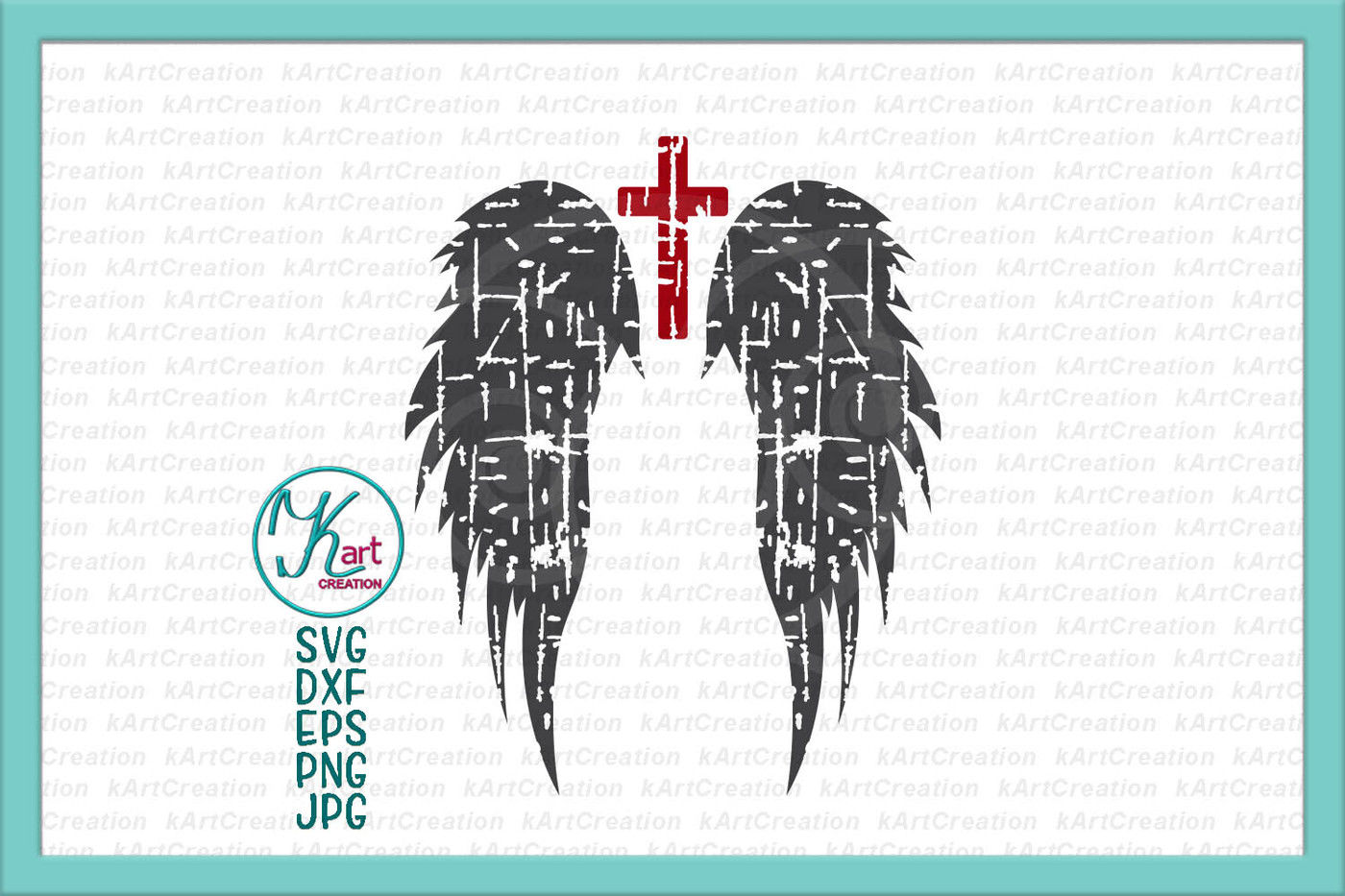 Angel Wings Iron On Angel Wings Svg Angel Wings With Cross Svg