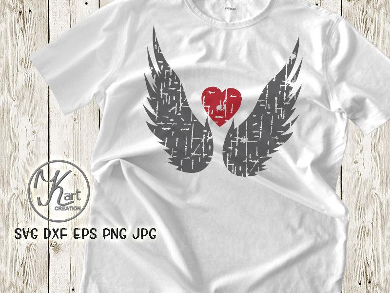 Angel Wings Svg Angel Wings Heart Svg Angel Wings Iron On