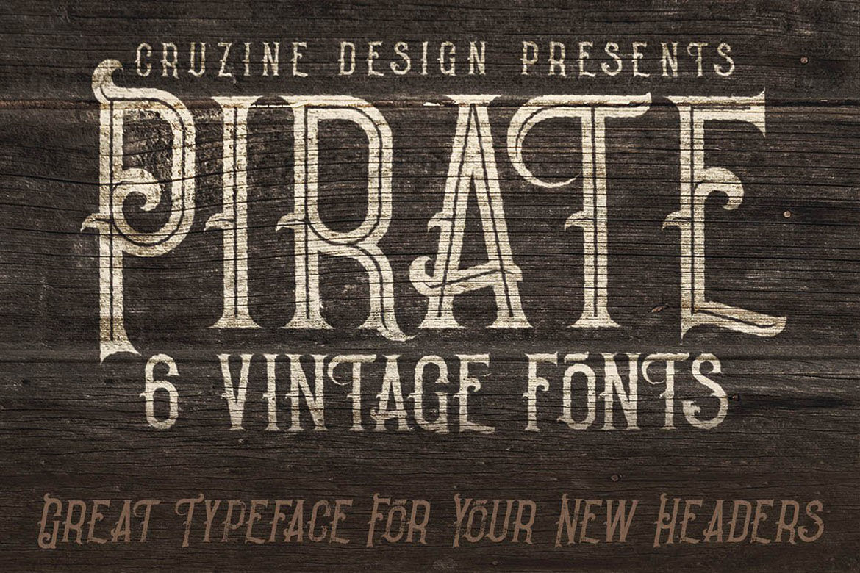 Pirate Vintage Style Font By Cruzine Design Thehungryjpeg Com