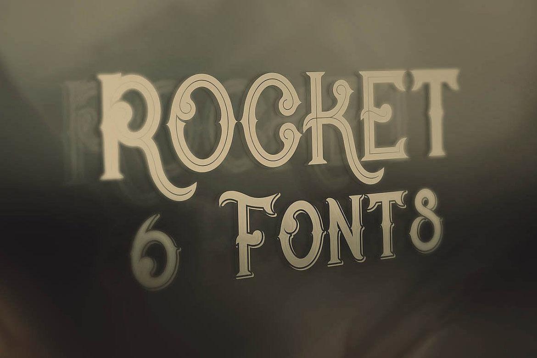Rocket Vintage Style Font By Cruzine Design Thehungryjpeg Com