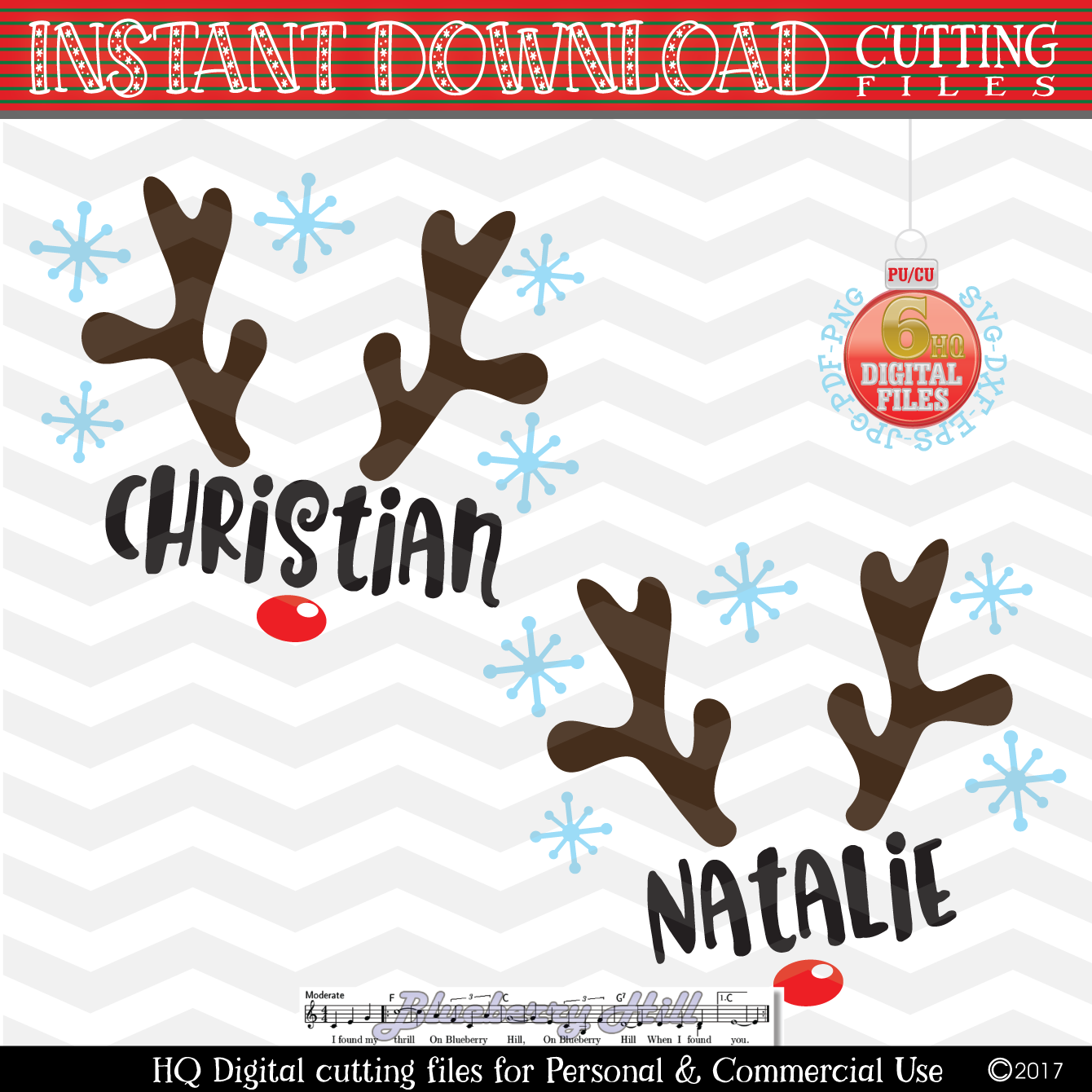 Reindeer Svg Reindeer Face Cut Files Christmas Reindeer Svg